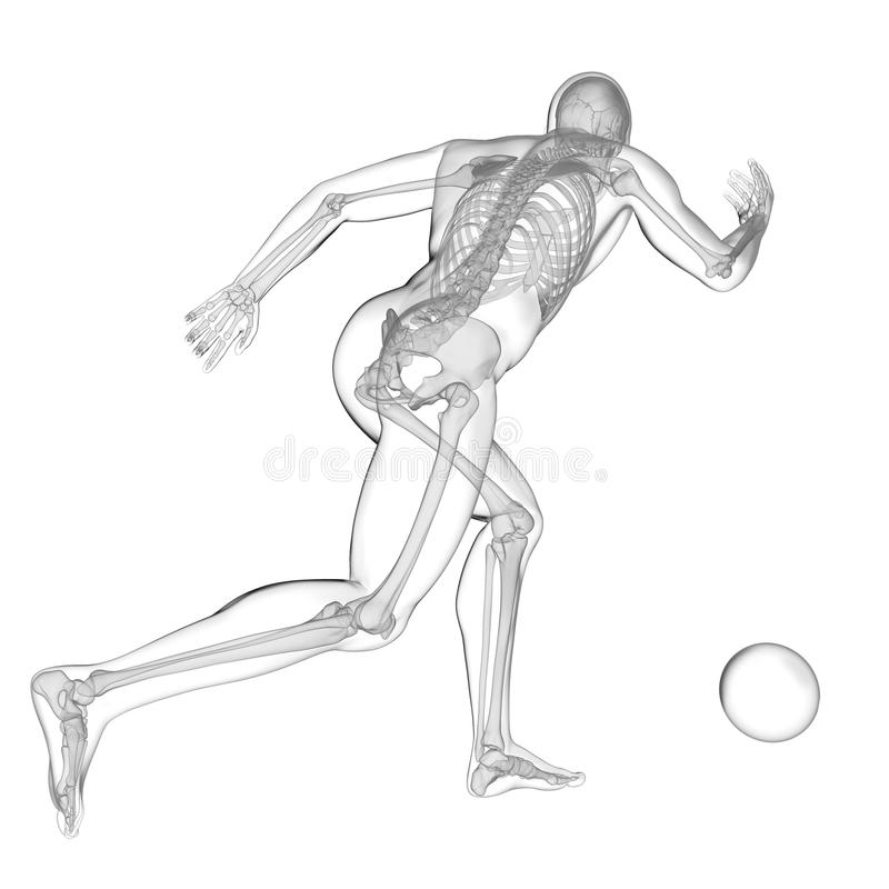 Mężczyzna kręgle ilustracja wektor