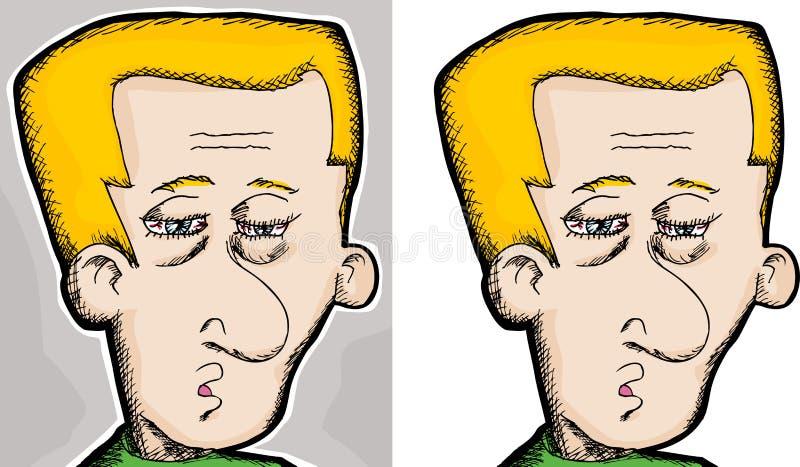 mężczyzna męczący ilustracji