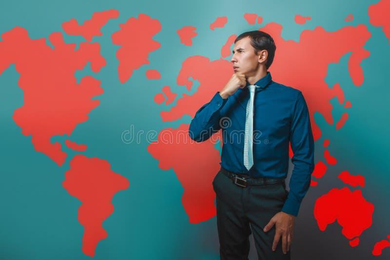 Mężczyzna męskiego nauczyciela profesora biznesmena główkowanie obrazy stock