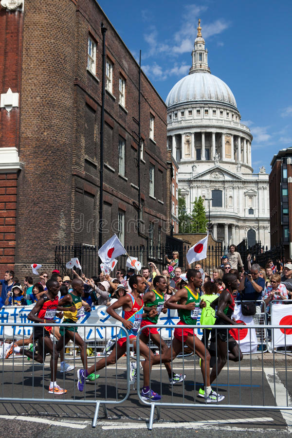 Mężczyzna Maraton - Olimpiady 2012 obraz royalty free