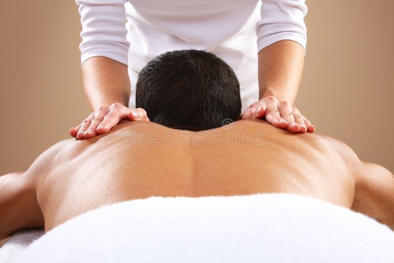 Mężczyzna masaż zdjęcia royalty free