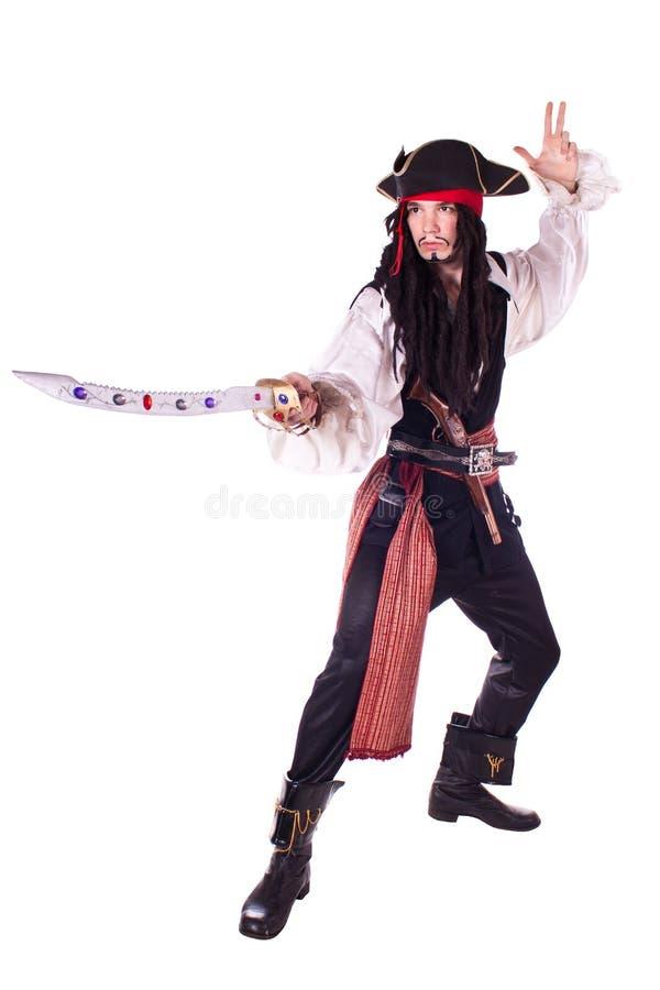 mężczyzna maskarady pirat zdjęcie stock