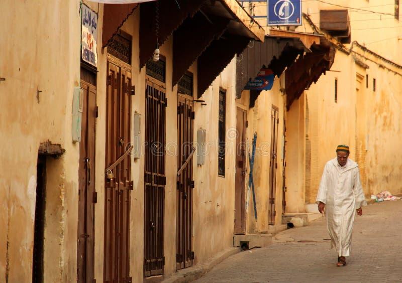 mężczyzna medina muzułmański stary odprowadzenie obraz royalty free