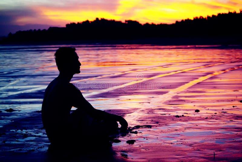 mężczyzna medytacja obraz royalty free