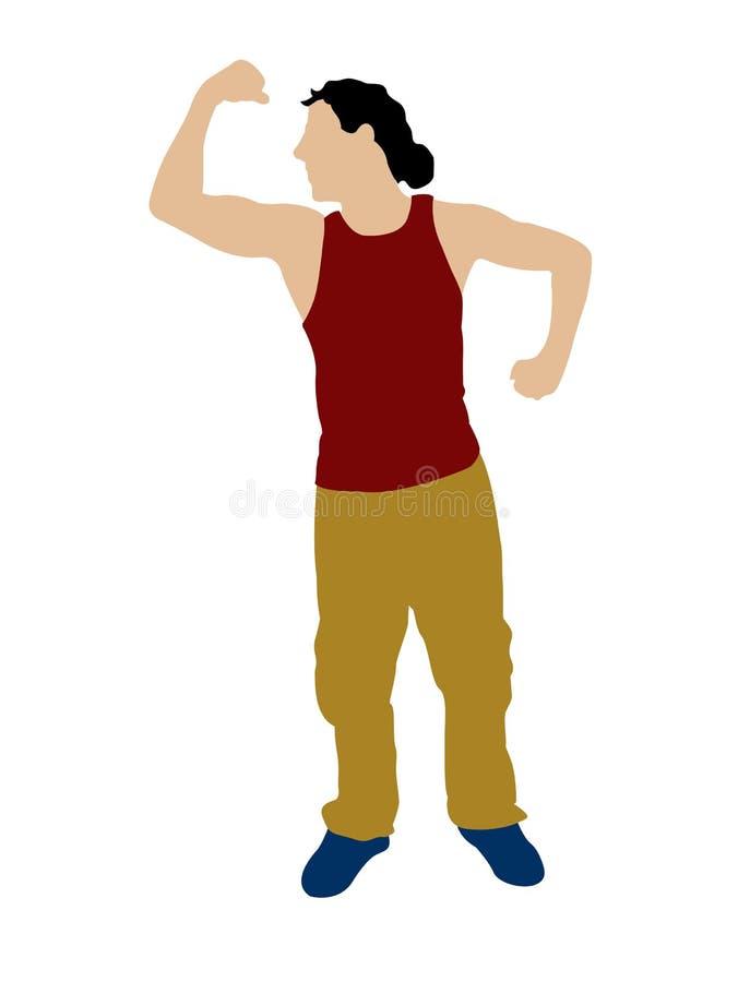 mężczyzna mięśni pokazywać ilustracja wektor