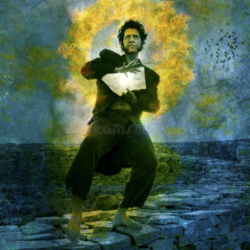 mężczyzna mistyczny ilustracji