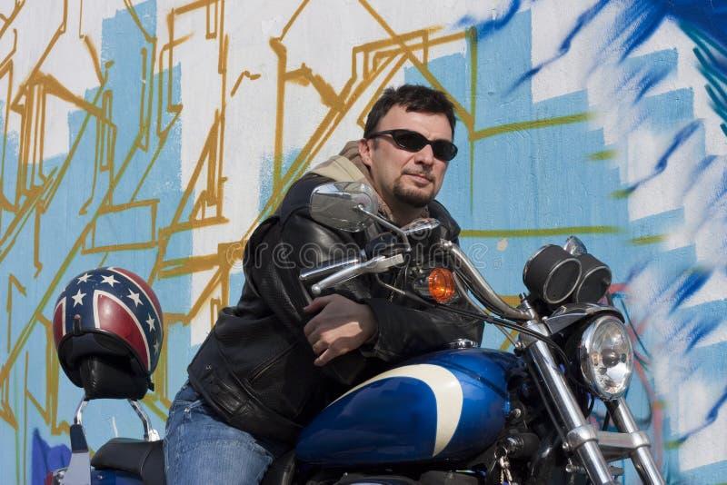 mężczyzna motocykl obrazy stock