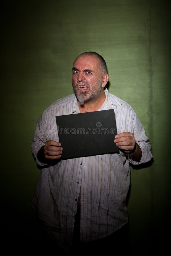 mężczyzna mugshot plątanie zdjęcia stock