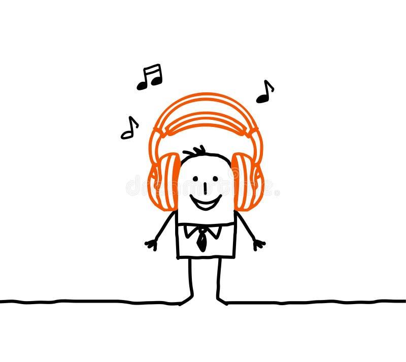 mężczyzna muzyka ilustracja wektor