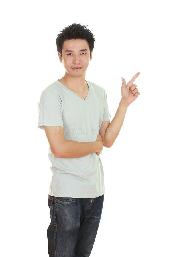 Mężczyzna myśl pomysł z koszulką obraz stock