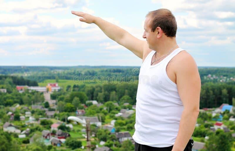 Mężczyzna na górze obraz royalty free