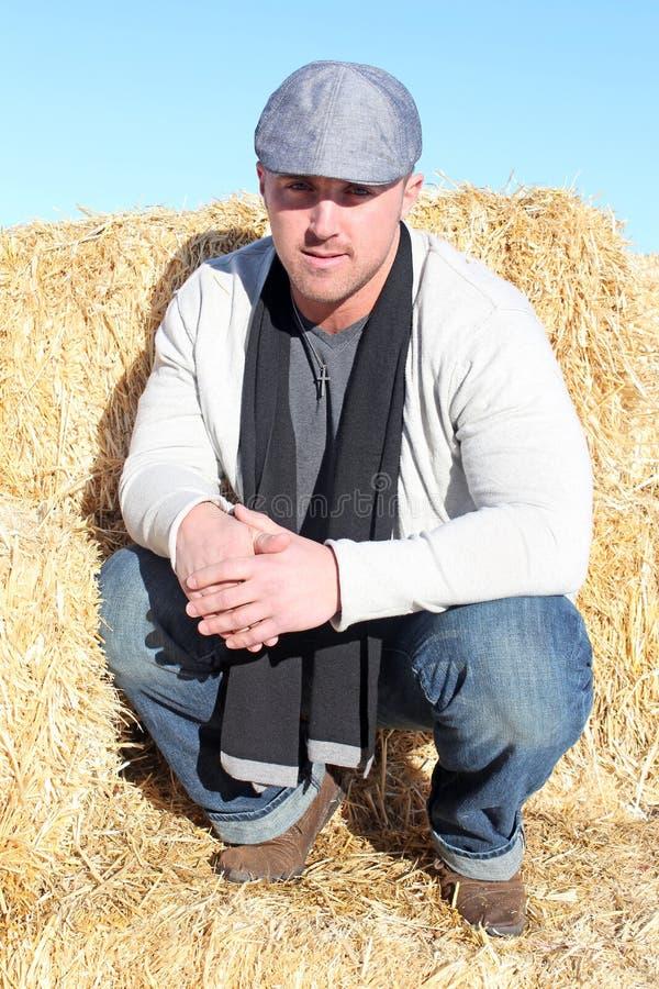 Mężczyzna na Gospodarstwie rolnym zdjęcie royalty free