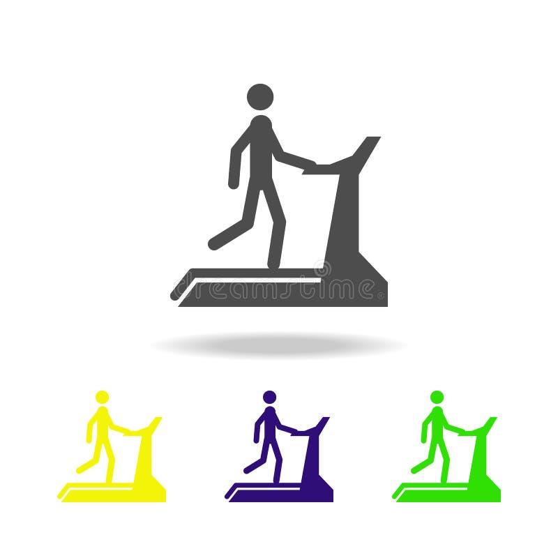 mężczyzna na kieratowych stubarwnych ikonach Element sport stubarwne ikony Może używać dla sieci, logo, mobilny app, UI, UX ilustracji