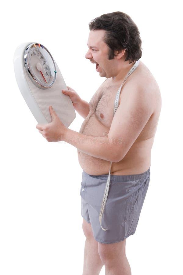 mężczyzna nadwaga obraz royalty free