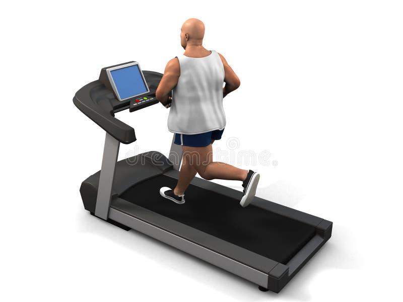 mężczyzna nadwaga karuzela ilustracja wektor