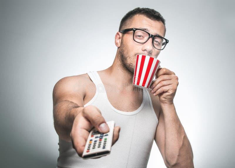 Mężczyzna napoju kawa zdjęcie stock