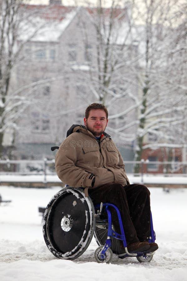 mężczyzna niepełnosprawni potomstwa obraz royalty free