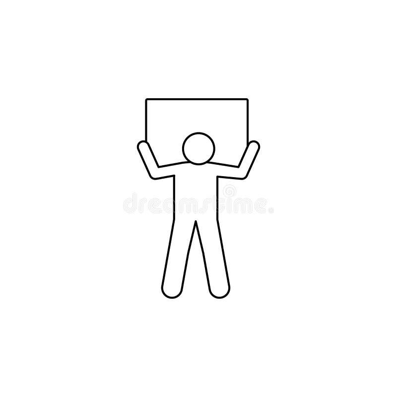 mężczyzna niesie pudełko na jego ramię ikonie Element mężczyzna niesie pudełkowatą ilustrację Premii ilości graficznego projekta  royalty ilustracja