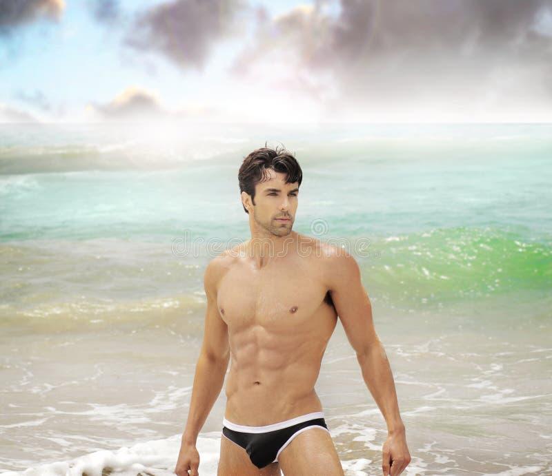 mężczyzna ocean zdjęcia stock