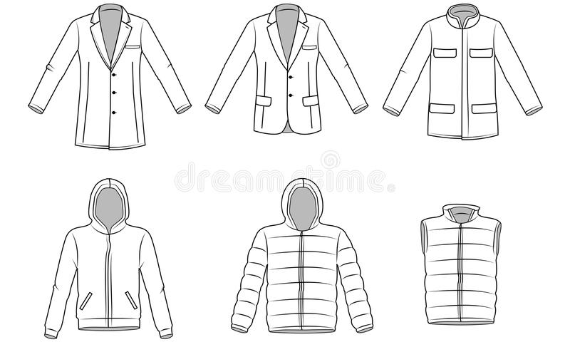 Mężczyzna Outerwear odziewa ilustracja wektor