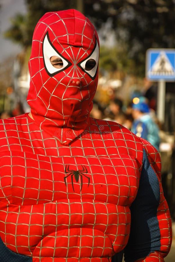 mężczyzna pająk fotografia stock