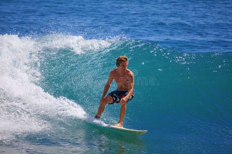 mężczyzna paniki punktu surfingu potomstwa obraz royalty free