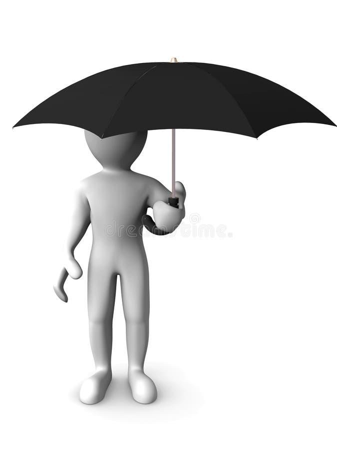 mężczyzna parasol ilustracji