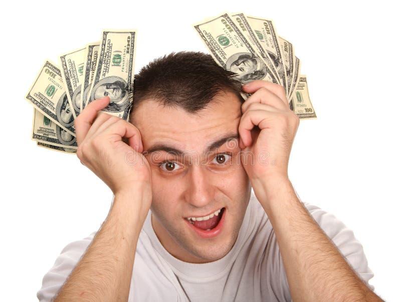 mężczyzna pieniądze potomstwa zdjęcia royalty free
