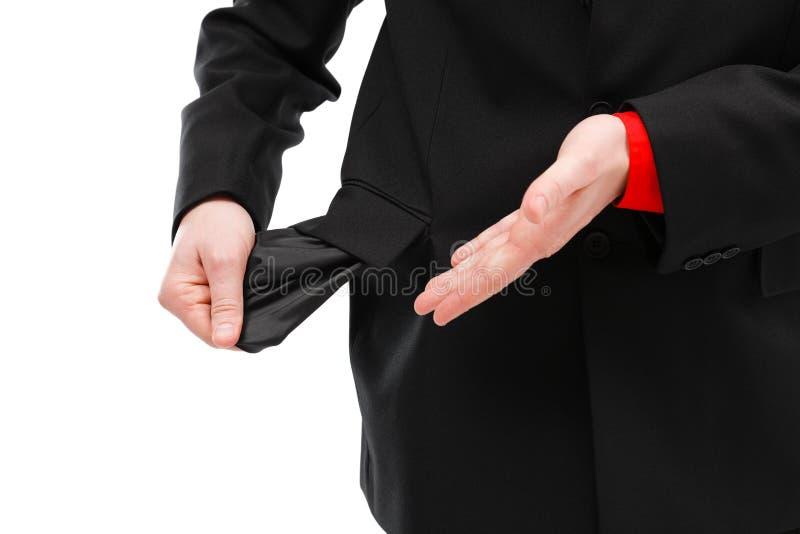 mężczyzna pieniężna sytuacja zdjęcie royalty free