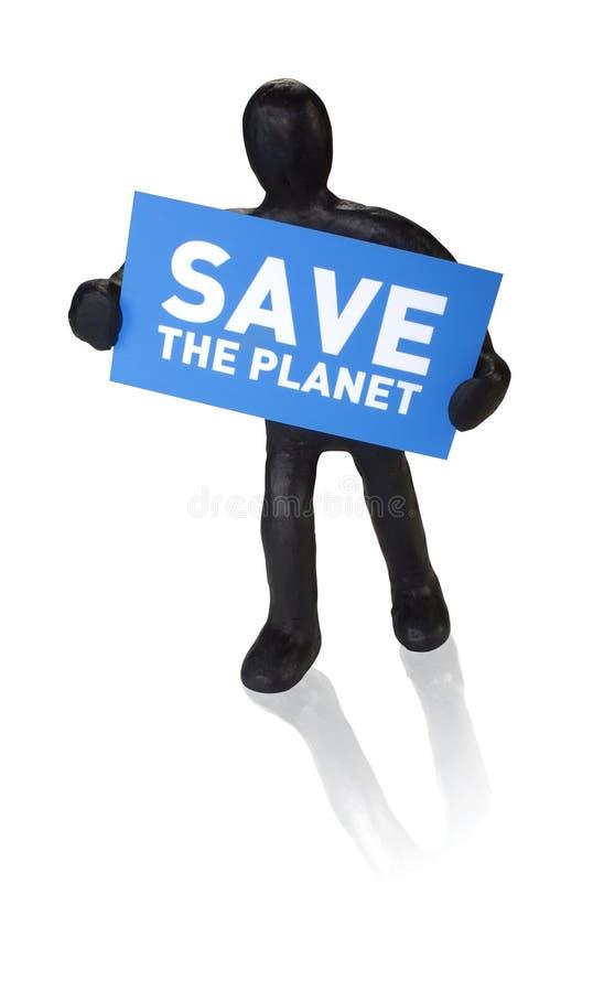 mężczyzna planety talerza save zdjęcie royalty free