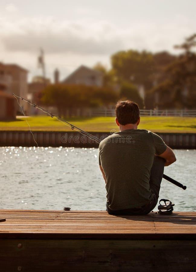 Mężczyzna połów fotografia stock