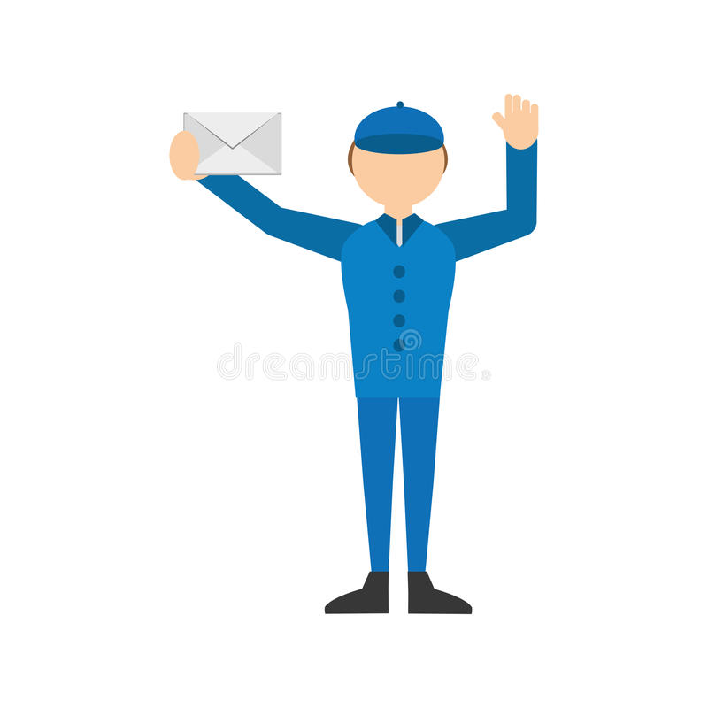 mężczyzna poczta poczta koperty list ilustracji