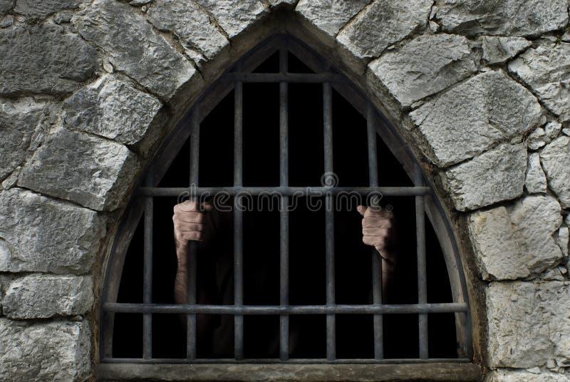 Mężczyzna pod barami zdjęcie royalty free