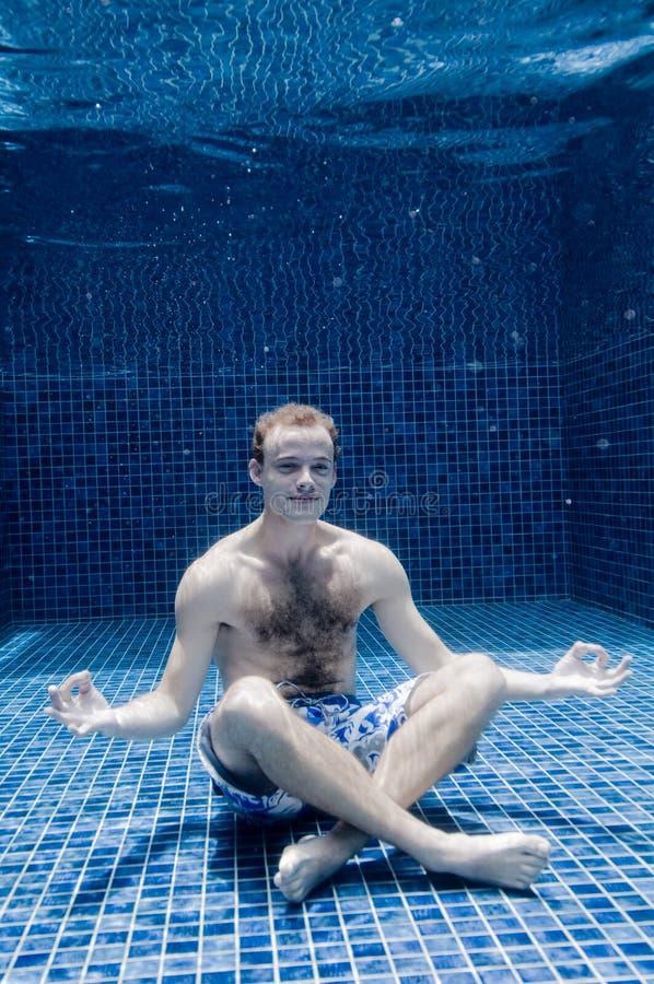 Mężczyzna Podwodny zdjęcia royalty free