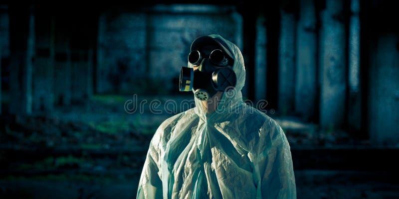 mężczyzna portreta respirator obrazy stock