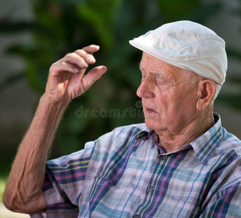 mężczyzna portreta senior obrazy royalty free
