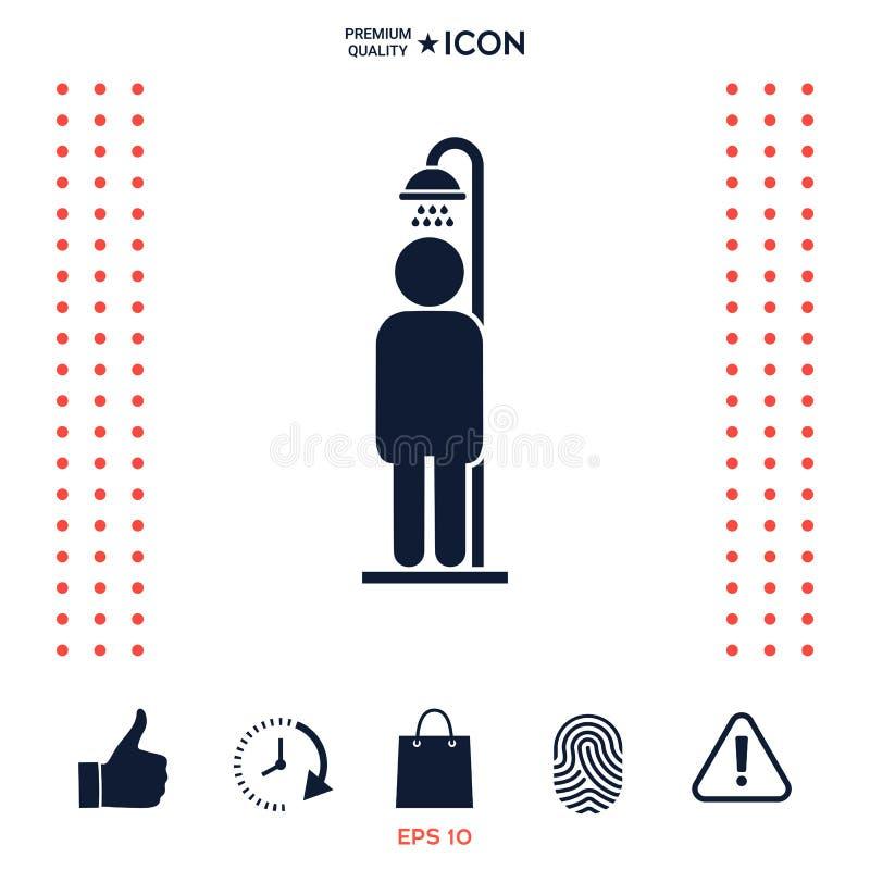 mężczyzna prysznic zabranie ilustracja wektor