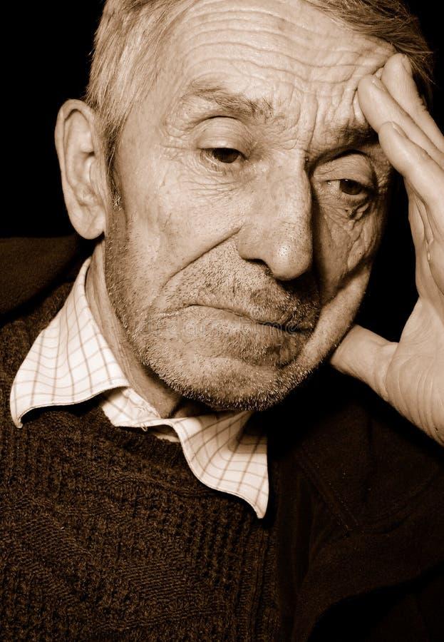 Mężczyzna Przygnębiony Senior Zdjęcie Royalty Free