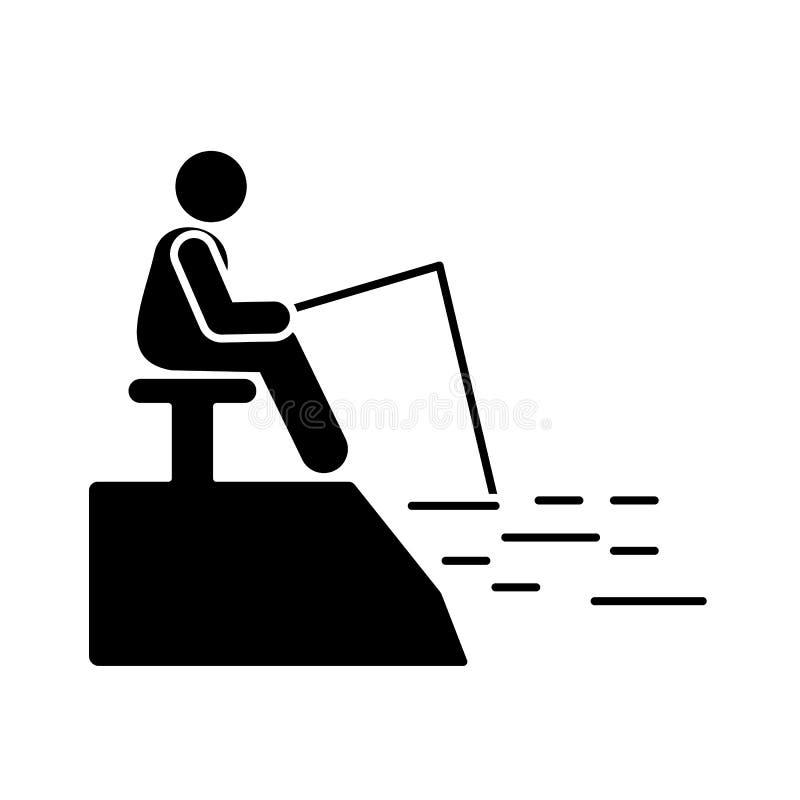 Mężczyzna przygody połowu ikona Element piktogram przygody ilustracja ilustracja wektor