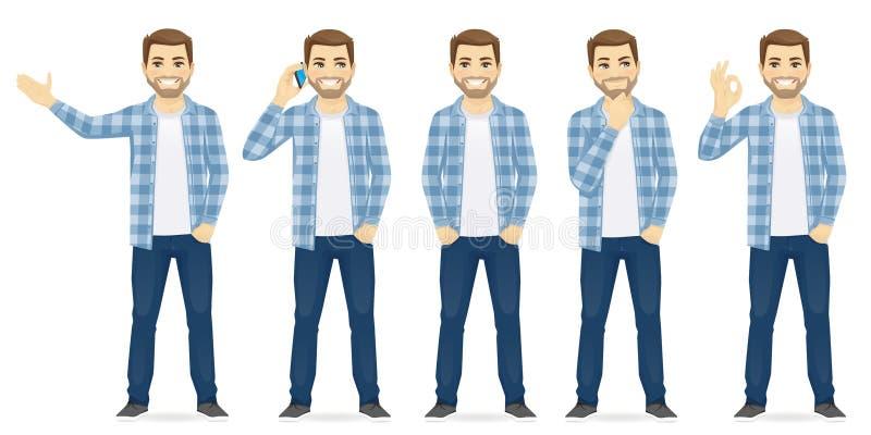 Mężczyzna przypadkowi clothers ilustracji