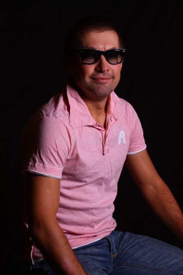 mężczyzna przystojni okulary przeciwsłoneczne zdjęcia stock