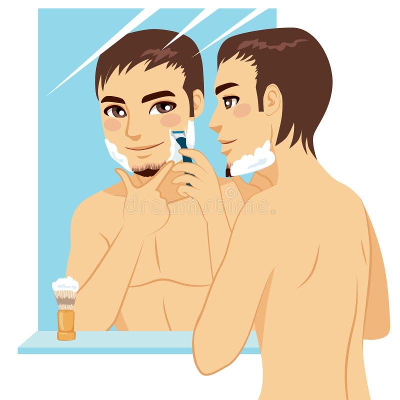 mężczyzna przystojny golenie ilustracji