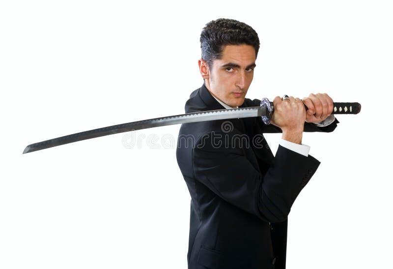 mężczyzna przystojny kordzik zdjęcia stock