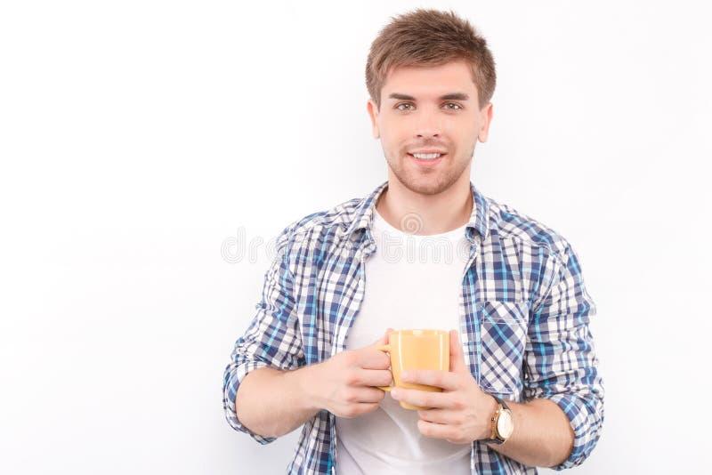 mężczyzna przystojny odosobniony biel zdjęcia stock