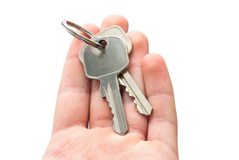 Ręki mienia klucze zdjęcia royalty free