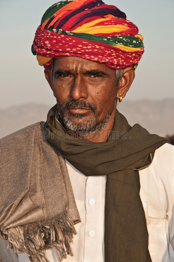 mężczyzna Rajasthan plemienny obraz stock
