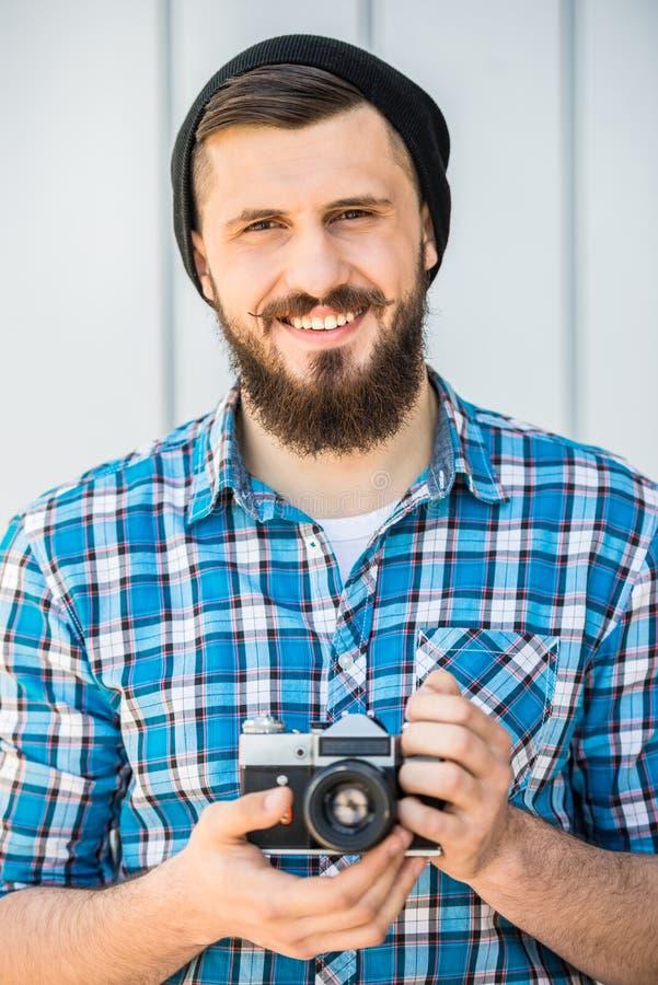 Mężczyzna robi obrazkowi obraz stock