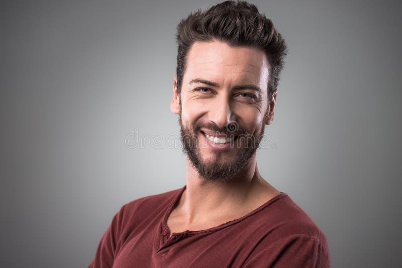 Download Mężczyzna Rozochocony Portret Zdjęcie Stock - Obraz złożonej z atrakcyjny, przystojny: 53788658