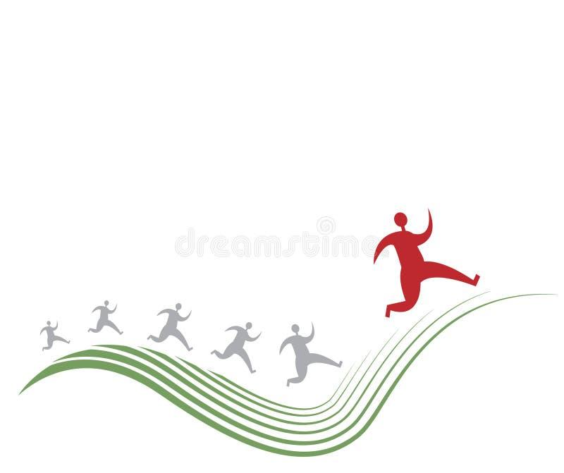 mężczyzna runnung royalty ilustracja