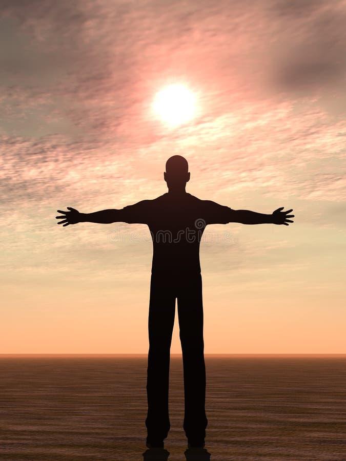 mężczyzna słońce zdjęcie stock